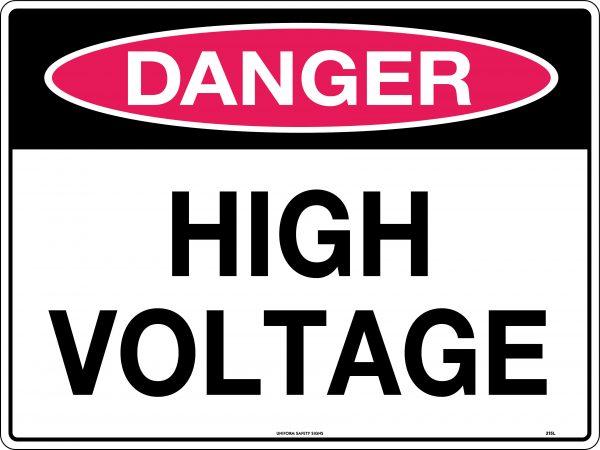 Danger High Voltage Safety Signage