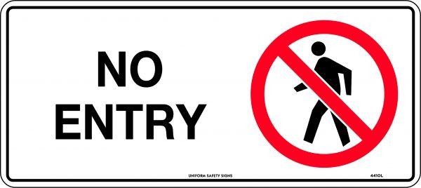 No Entry Sign Australia Prohibition Safety Signage