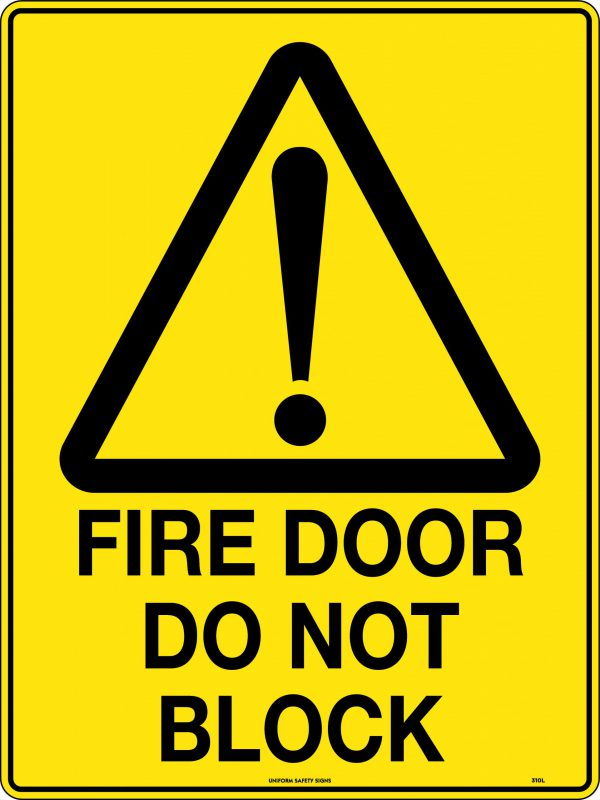 Fire Door Do Not Block Warning Sign