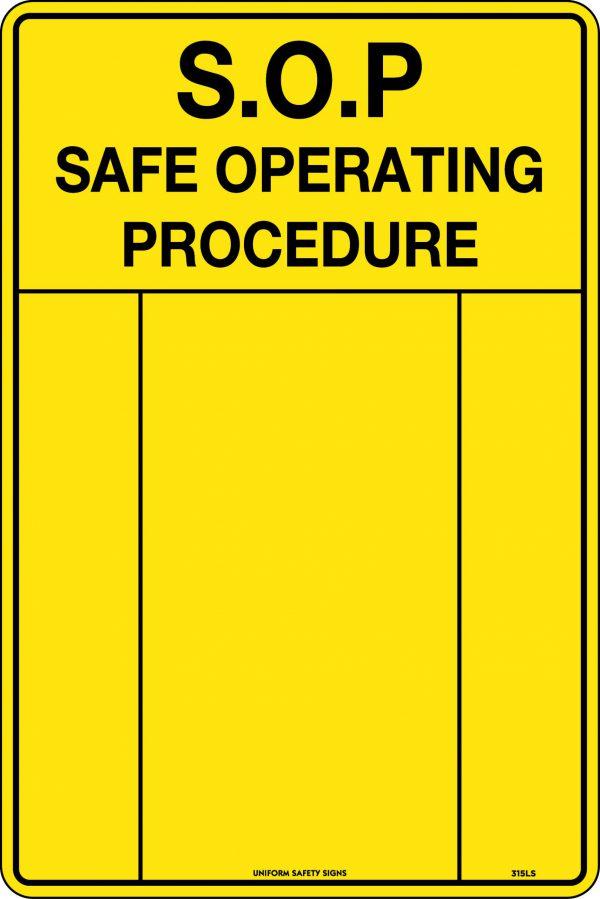 SOP Warning Sign