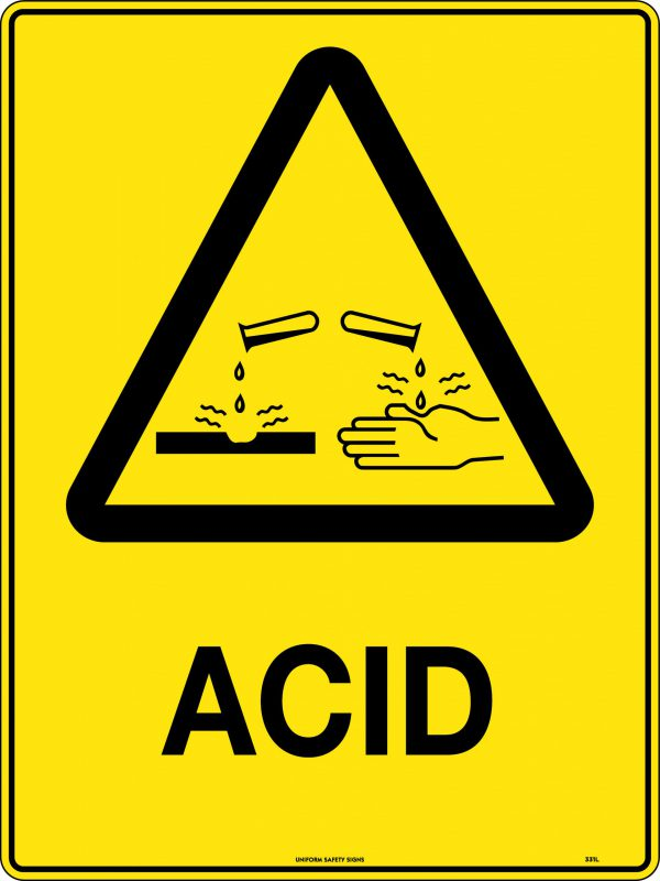 Acid Warning Sign