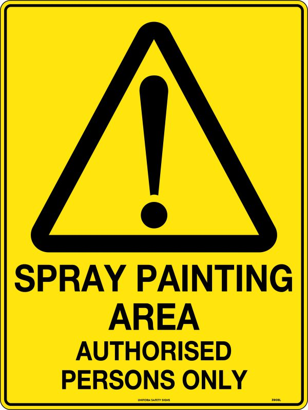 Spray Painting Area Signs
