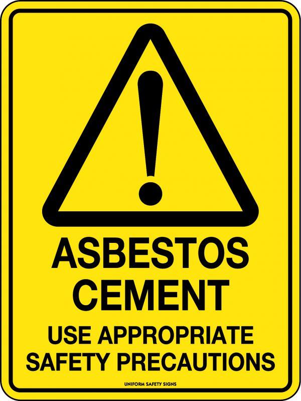 Asbestos Cement Warning Sign