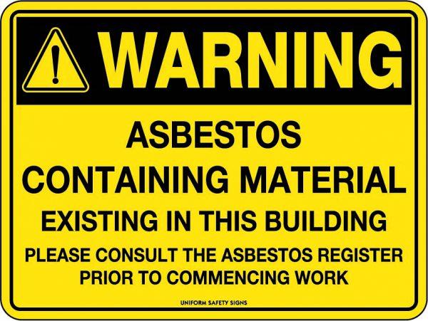 Warning Sign Asbestos Containing Material