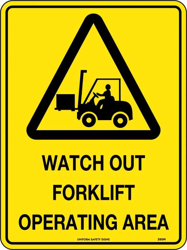 Watch Out Forklift Operating Area Sign