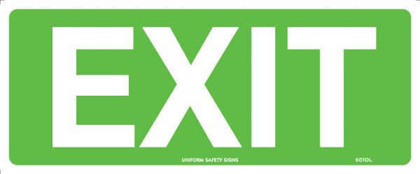 Green Exit Exit/Entry Safety Signage