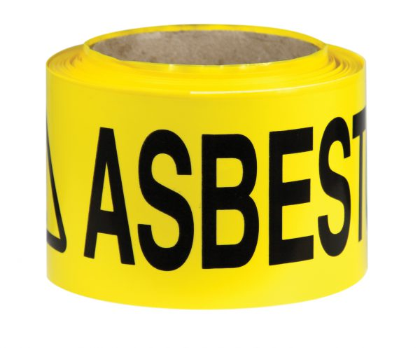 Caution Asbestos Barrier Tape Safety Signage