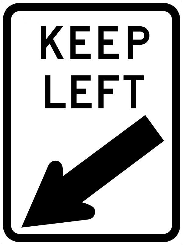 Keep Left Traffic Sign