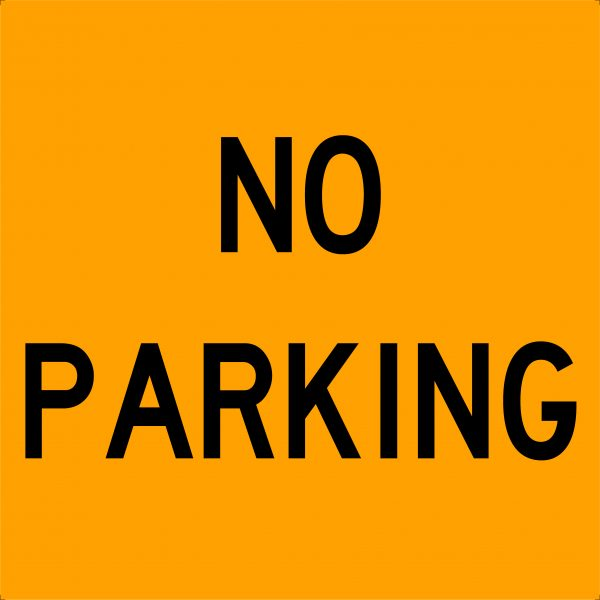 No Parking Traffic Swing Stand Signage
