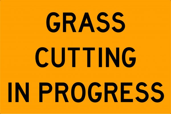 Grass Cutting In Progress Swing Stand Signage