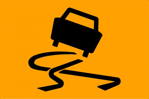 Slippery Surface Picto Traffic Signage