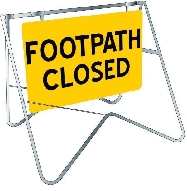 Footpath Closed Swing Stand Signage