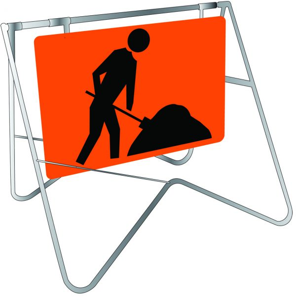 Symbolic Worker Swing Stand Signage