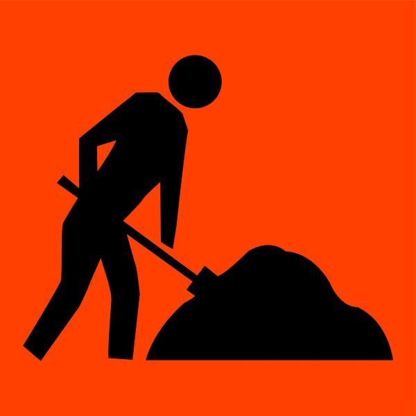 Symbolic Worker Traffic Signage