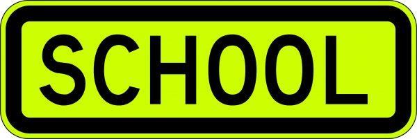 School Road Signage